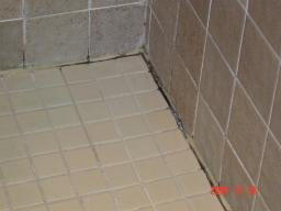 Shower floor - before re-grouting