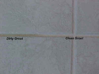 dirty grout / clean grout